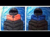 Ralph Lauren men's vest jacket puffy full zipper with hoody 2 colours £25 each