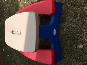 Kids Outdoor Picnic Table and Slide