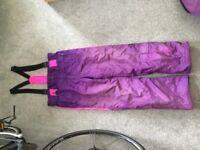 Nevica Retro purple salopettes/ski trousers