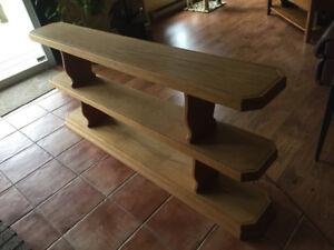 Custom Made Oak Bookcase/Sofa Table