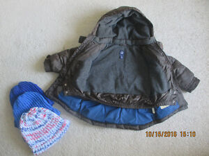 Baby Gap Winter Jacket 2T With 3 Winter Hats & Mittens ALL $15 London Ontario image 2