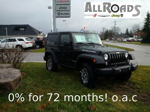 0 % 72months! on this new 2016 Jeep Wrangler Rubicon 4x4