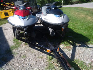 2 2004 SEADOOS POLARIS MSX150 4 STROKE TURBO LOW HOURS