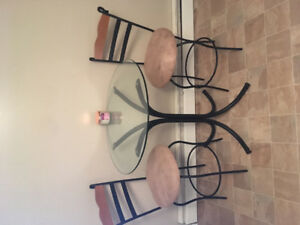Table & Set Of 2 Chairs