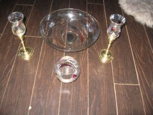 Partylite Mosaic Bowls and Candle Sticks