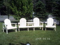 wooden  lawn/patio chairs