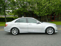2007 57 Mercedes-Benz C Class 2.1 C220 CDI Sport 4dr WITH FSH+TOP SPEC