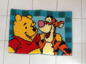 Winnie the pooh & Tigger latch hooked rug (wall decor)