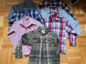 7 chemises garçons 6 à 6x pour 7$
