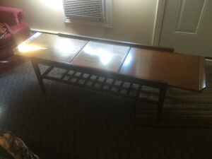 Vintage mid century extending coffee table