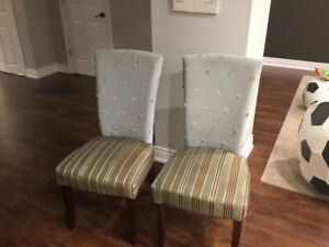 Parson chairs for kitchen / dining room