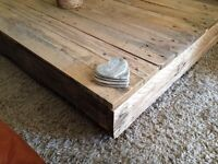 BARN STYLE COFFEE TABLE, shabby chic, rustic, pallet