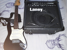 Mini Strat and amp.