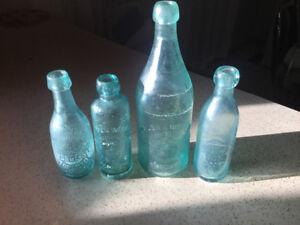 Beaver bottles 1800s Toronto