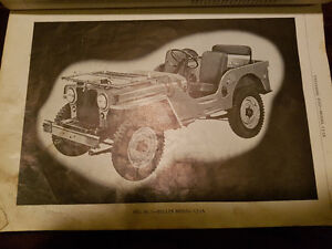 Willys Owners Manual and Parts List