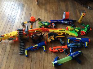 Step 2 toy box and nerf guns