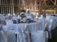 CHAIR COVERS, TABLE CLOTHES & NAPKIN RENTAL