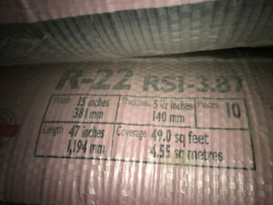 R-22 Owens Corning 2x6 walls insulation