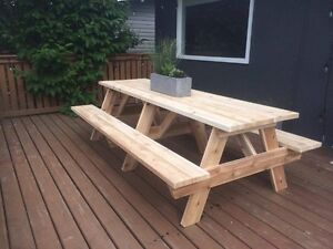 Picnic Tables - 3ft- 10ft sizes - Spruce, Treated, & Cedar