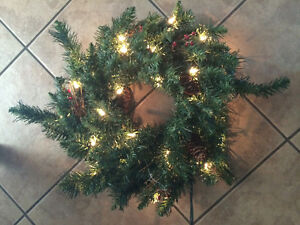 Wreath with lights