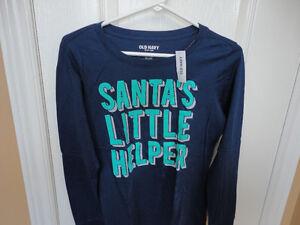 Women's Old Navy blue Santa's Little Helper Long sleeve shirt London Ontario image 2