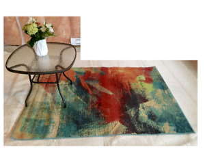 Beautiful Orian Rug Abstract Multi-Colour Indoor Area Carpet