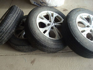 225/65R17 set of 4 all season tires with rims