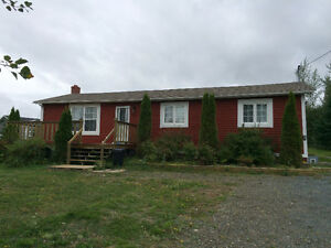 Renovated 2 bedroom home on 3 acres in Clarenville!