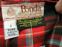 NB Tartan kilt pleated wool skirt  Size 6