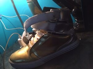Supra gold and silver shoes for sell