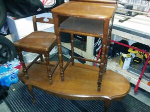 French provincial desk / chair and coffee table