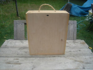 "Excellent Condition: Wooden Storage Box, 12""W x 14""H x 4""D"