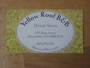 Yellow Roof B&B - Prince Edward County Belleville Belleville Area image 1