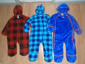 THE NORTH FACE,COLUMBIA FLEECE BUNTING SUIT,18,24 MONTHS BOY