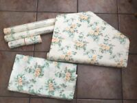 Vintage Laura Ashley Wallpaper boarder and fabric Material
