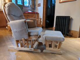 Nursing Rocking Chair with Rocking Footstool