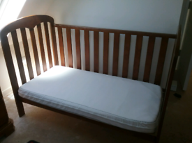 John Lewis Rachel Cot bed and mattress with bedding