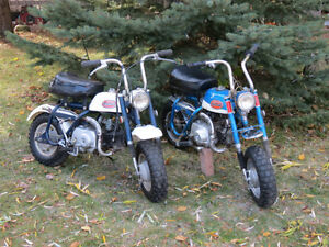 Honda Mini trail Z50, CT70, Big Red and Kawasaki KV75, CRF230