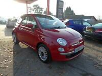 09 (59) FIAT 500 LOUNGE 1.2, ONLY 52,300 MILES SERVICE HISTORY, £30 ROAD TAX