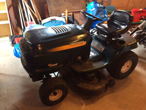 20 HP Craftsman lawn tractor with 3 attachments