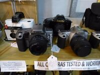 Working Cameras, SLRs, Folding Cameras, Collectable Cameras & Accessories, Bags & Tripods