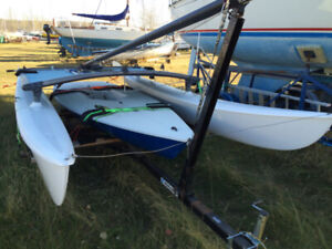 Hobie Cat 16 and Laser Sailboat Combo