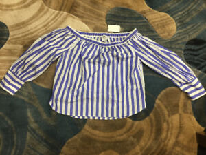 Brand New Thomas Mason for J.Crew off-the-shoulder striped top