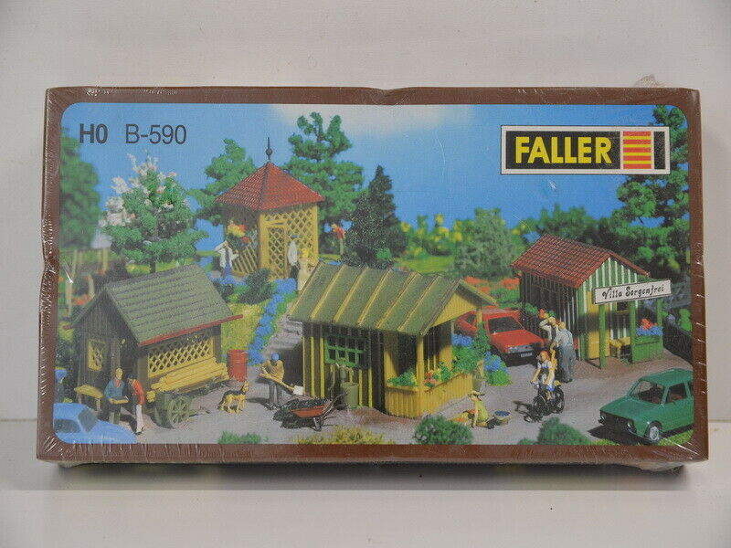 Bausatz Faller H0 B-590 Gartenlauben-Set Schrebergarten OVP ungeöffnet in Folie