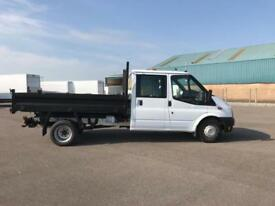 Ford Transit 350 L3 DOUBLE CAB TIPPER 100PS EURO 5 DIESEL MANUAL WHITE (2014)