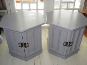 Pair of vintage side tables, PRICE REDUCED