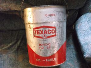 Texaco oil pail Cornwall Ontario image 1