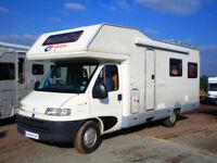 CI Riviera 181 six berth U shaped lounge motorhome for sale