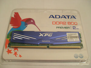 2gb Adata Premier XPG DDR2-800 desktop Ram chip - New in package
