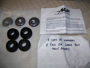 AGP Turbo Engine Mount bushings, washers, Dodge Neon and SRT-4
